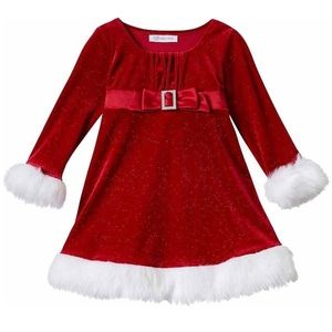 NWT - Toddler Girl's Bonnie Jean Holiday Dress